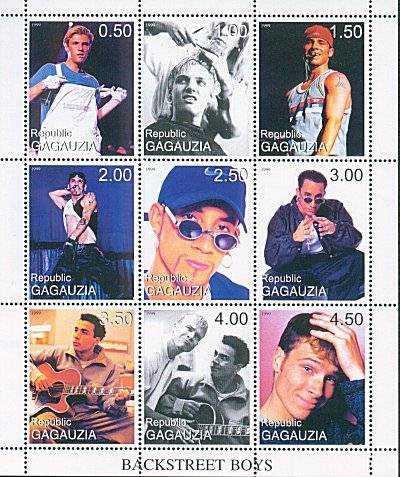 Stamps with The Backstreet Boys